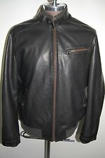 Levi's Black Leather Flight Bomber Varsity Jacket Men's XL EUC Unused Condition