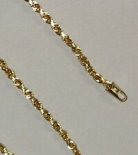 "14kt SOLID Gold ROPE Pendant link Chain/Necklace 30"" 2.5mm 10 grams ROY018"
