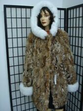 BRAND NEW  MONTANA LYNX & FOX FUR JACKET COAT WOMEN
