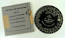 USAAF TYPE D-4 TIME & DISTANCE COMPUTER- MINT IN BOX