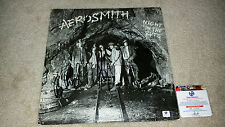 Aerosmith band signed autograph Night in the ruts LP GA Steven Tyler Joe Perry+3
