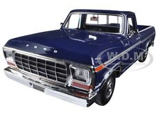 1979 FORD F-150 PICKUP TRUCK BLUE 1/24 DIECAST MODEL CAR BY MOTORMAX 79346