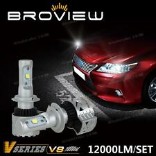 BroView V8 72W 12000lm Cree LED Headlight Kit H7 High Beam 6000K Bulbs 1 Pair