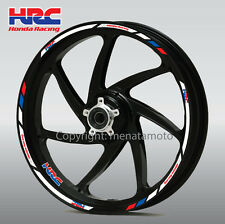 HRC motorcycle wheel decals 12 rim stickers laminated set Honda CBR 1000rr 600rr