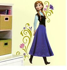 Disney Store Authentic FROZEN Princess Anna BIG Wall Decal Girls Room Gift Set