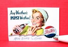 """Miniature Size.Sign....ANY WEATHER'S """"SODA"""" WEATHER........Dollhouse..... AP4041"""