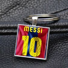 FC Barcelona Lionel Messi Keychain Key Chain Alloy Square Ring Keyring Gift Men