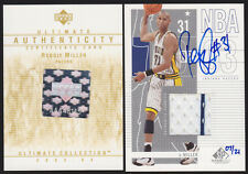 2003/04 UD ULTIMATE GAME USED GU/WORN JERSEY AUTO REGGIE MILLER SP/21 AUTOGRAPH