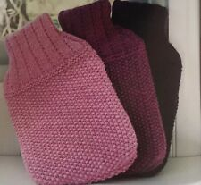 Knitting Pattern For Attractive Hot Water Bottle Cover - Knit ANY colour