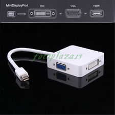 3in1 Thunderbolt Mini DP Display port to HDMI DVI VGA Adapter for MacBook/Air