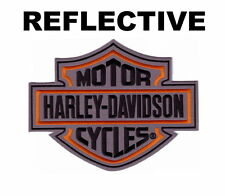 HARLEY DAVIDSON BAR SHIELD REFLECTIVE NIGHT VISION PATCH  8 IN RETIRED DESIGN