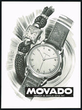 1940's Vintage 1946 Movado Watch Co. Mid Century Modern R. Bleuer Art Print AD
