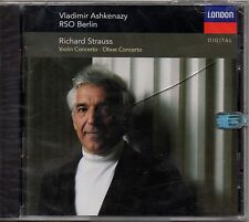 "VLADIMIR ASHKENAZY ""STRAUSS: VIOLIN CONCERTO"" CD 1993 london sealed"
