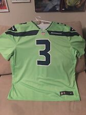 Seattle Seahawks Russell Wilson Color Rush Jersey Size XXL!!!!