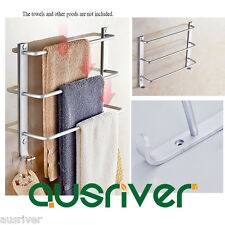 Wall Mounted Space Aluminium Anodizing Rustless Towel Rail Holder Rack Shelf Bar