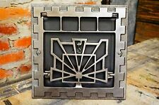 "Antique Art Deco Cast Iron Heat Register ""Floor"" Grate Wall Vent"