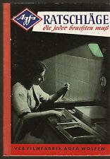 AGFA Wolfen Ratschläge die jeder beachten muß Ausgabe 1957 DDR Fotobuch vom VEB