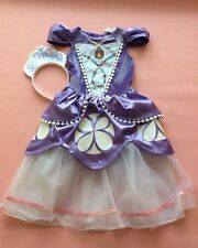 Disney Sofia The First Dress Up Costume and Tiara/Crown Age 2/3 years deluxe