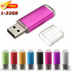 1-32GB Lot USB 2.0 Exquisite Mini Metal Flash Memory Stick Storage Thumb U Disk
