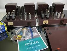 Rare Pair Fisher 55A Mono Tube Amplifiers EL34 Restored Working Fine 200A 50A
