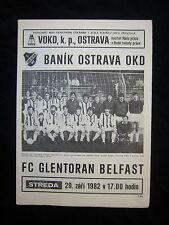 Orig.PRG   UEFA Cup  1982/83    BANIK OSTRAVA - GLENTORAN BELFAST  !!  SELTEN