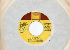 SMOKEY ROBINSON raro disco  45 giri MADE in USA Holly + Vitamin U
