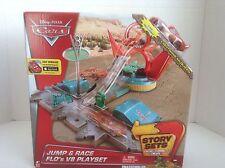 "Disney Pixir Cars "" Jump & Race Flo's V8 Playset with Lightning McQueen"""