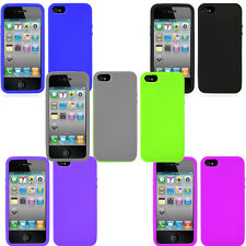 Pack of 6 - Rubber Silicone Soft Gel Case & Screen Protector For iPhone 5 5S SE