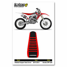 2014-2016 HONDA CRF 250 Red/Black/Red RIBBED GRIPPER SEAT COVER by Enjoy MFG