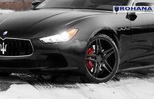 20x9 20x11 +28 Rohana RC8 5x114.3 Black Wheel Fit Maserati ghibli 2014 Staggered