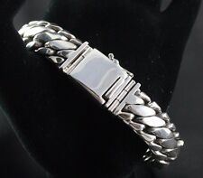 """Sterling Silver .925 Twist Style Bracelet 8"""" 113 Grams Men's"""