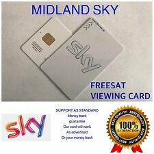 Attivato BIANCO Freesat Viewing CARD PLUS e HD Gratuito UK 1st Class Postage