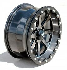 "Set (4) MSA MotoSport Alloys 14"" Lok M21 Gunmetal Gun Metal Beadlock Rim Wheel"