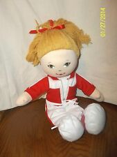 "Cracker Barrel Plush 16"" Blonde Doll with Butterfly Tag Believe in yourself"