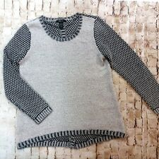 Women's Style & Co. Tunic Sweater Size XL Gray Front Black Back Center Seam