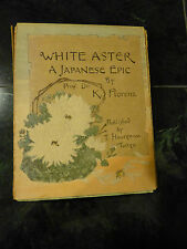 White Aster A Japanese Epic Florenz T. Hasegawa Tokyo Crepe Paper Book 94 pages