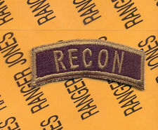 US ARMY RECON Infantry Cavalry Reconnaissance OD Green tab patch