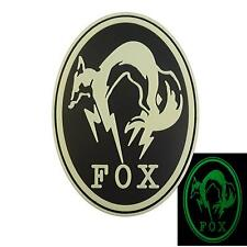 Metal Gear Solid Fox Hound PS4 PVC Glow Dark MGS rubber touch fastener patch