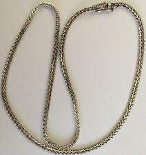 "Vintage 925 Sterling Silver Heavy Foxtail Necklace 20"" Excellent 21 Gram Mexico"
