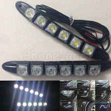 2x 6 LED Flexible Car DRL Daylight Driving Safety Fog Lamp Daytime Running Light
