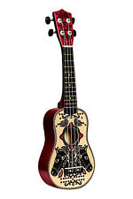 H&M STUDIO Collection Patterned Painted Wooden Ukulele Lute Brand New Boxed