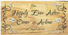 Wooden plaques Shabby Chic handmade signs gifts personalised Wedding Day