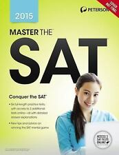 MASTER THE SAT 2015 - S. PETERSON (PAPERBACK) NEW