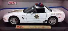 MAISTO CHEVROLET CORVETTE Z06  1:18 SCALE STATE TROOPER