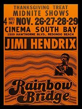"Jimi Hendrix Rainbow Bridge Film 16"" x 12"" Photo Repro Poster"