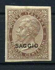 1863 Regno De La Rue Saggi Saggio Prova cent. 30 ( marginato )