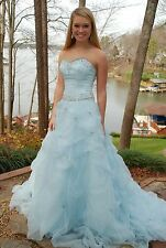 Gorgeous baby blue  Crown Collection ball gown Pageant Prom gown size 2/4