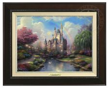 Thomas Kinkade - Disney World - Canvas Classic (Espresso Frame)