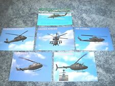 Lot of 6 Helicopter Postcards, Black Hawk, Apache etc. --- Aircraft Postcard Lot