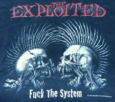 The Exploited F**K the System Punk Rock Band T shirt XL